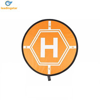 LeadingStar Universal Drone Landing Pad RC Quadcopter Helicopter Apron Fast fold Helipad for Micro Drone Orange zk35