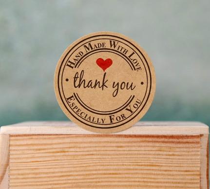 Attractive 100 Teile/los Danke Papier Aufkleber Kawaii Klebeetiketten Für Hausgemachte  Bakery U0026 Geschenk Verpackung (