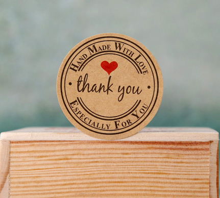 100pcs/lot Thank You  Paper Seal Sticker Kawaii Adhesive Stickers For Homemade Bakery&gift Packaging (ss-658)