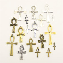 Charms For Jewelry Making Egyptian War God Ankh Cross Accessories Parts Creative Handmade Birthday Gifts(China)