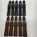 2016 nuevo producto relojes de pulsera negro marrón con colorido línea de correas de reloj correa de cuero genuino correa de reloj 20mm 22mm
