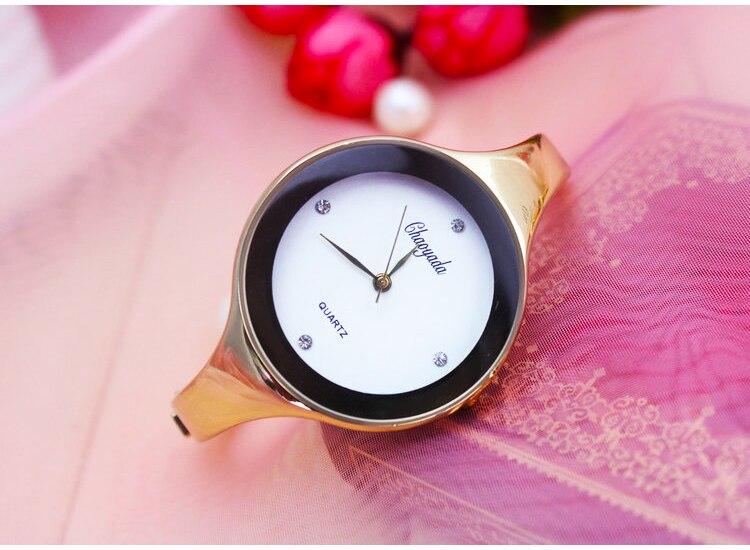 Элегантный Для женщин часы Восход известный бренд Для женщин часы-браслет модные роскошные дамы Slim наручные кварцевые часы Relogio feminino