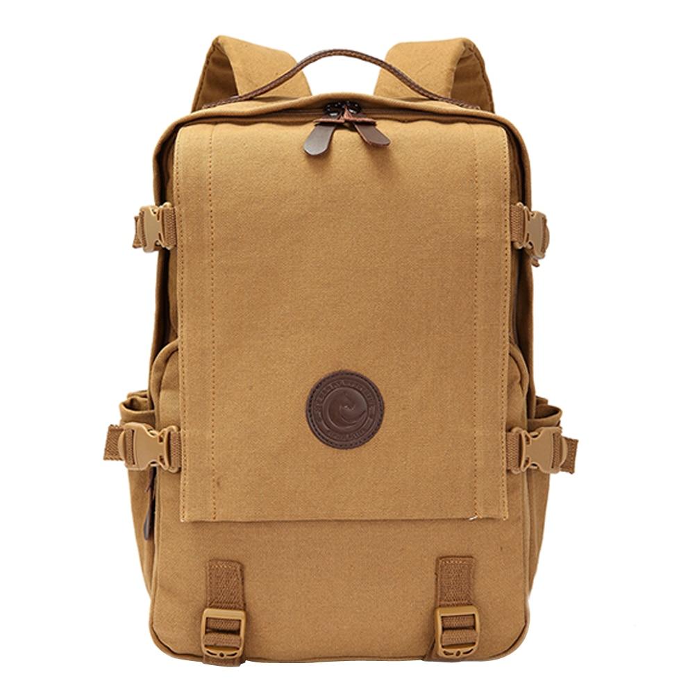 ФОТО GINGER ACTIVE Vintage Canvas Backpack Male Shoulder Bag Teenagers Vintage Mochila Rucksack Casual Rucksack Travel Daypack #LD789