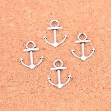 30 pçs âncora mar encantos liga de metal pingentes para colar pulseira jóias fazendo diy artesanal 19*15mm