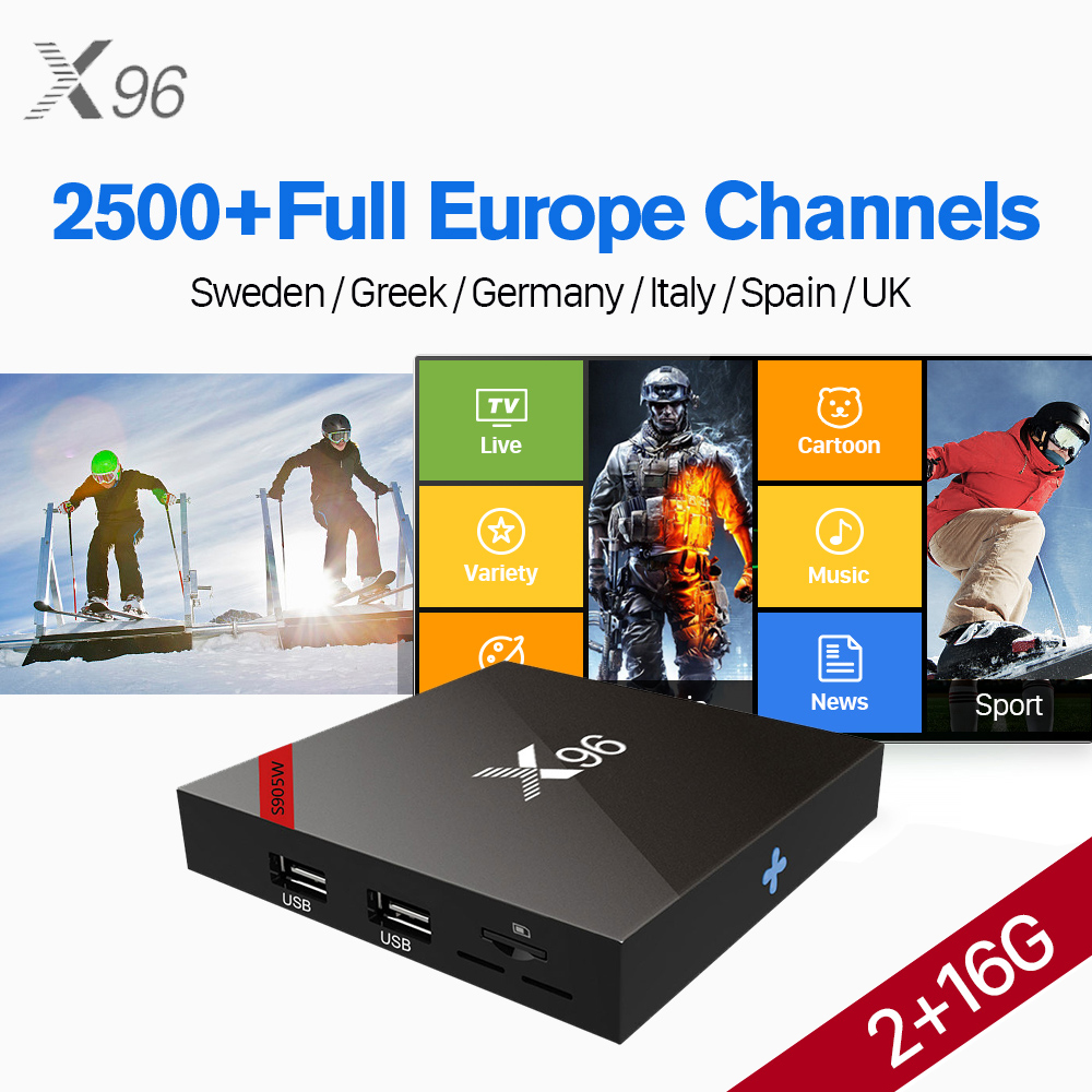 X96 IP TV Box S905W Android 7.1 with IUDTV 1 Year IPTV Subscription 2500+ IPTV Italy Greek Germany Spain UK Sweden Turkey IP TV durable rc car defender frame set for