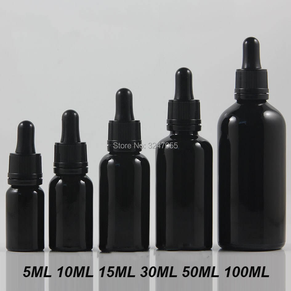 Black Vial Cosmetic Essence Storage Bottle,Glass Empty Essential Oil Container,Glass Pipette 5-100ml Bottle n Tamper Evident Cap alcohol and liquid container bottle white 180ml