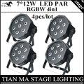 4 шт./лот 7X12 W LED Par свет RGBW 4in1 DMX control professional dstage оборудование дискотека огни