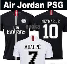 21aec53b5ca 2018-2019 new psg jersey 18 19 Champions League Paris Jordam tracksuit black  white soccer