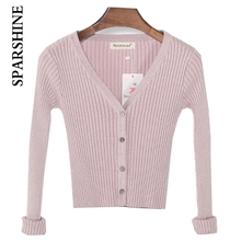 Spring Models Women Sweaters Ladies Short Paragraph Long-sleeved V-neck On The Shawl Knit Cardigan Jacket Women Sweater Women