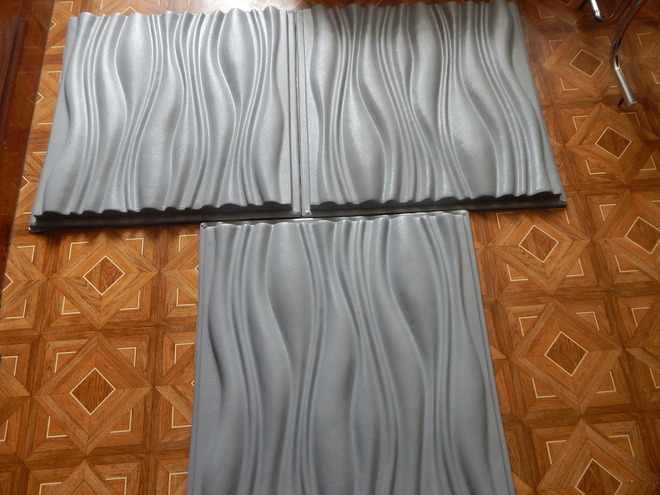 """פלסטיק תבניות צורות עובש 3D דקורטיבי קיר פנלים """"כוח"""" מחיר עבור 1 מ""""ר סט של 3 צורות גודל 600x600x40mm"""