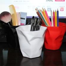 1 шт., держатель для карандашей, контейнер, Настольная многофункциональная мини настольная мусорная корзина, ваза, горшок, держатели для кистей для макияжа, канцелярские принадлежности для дома и офиса