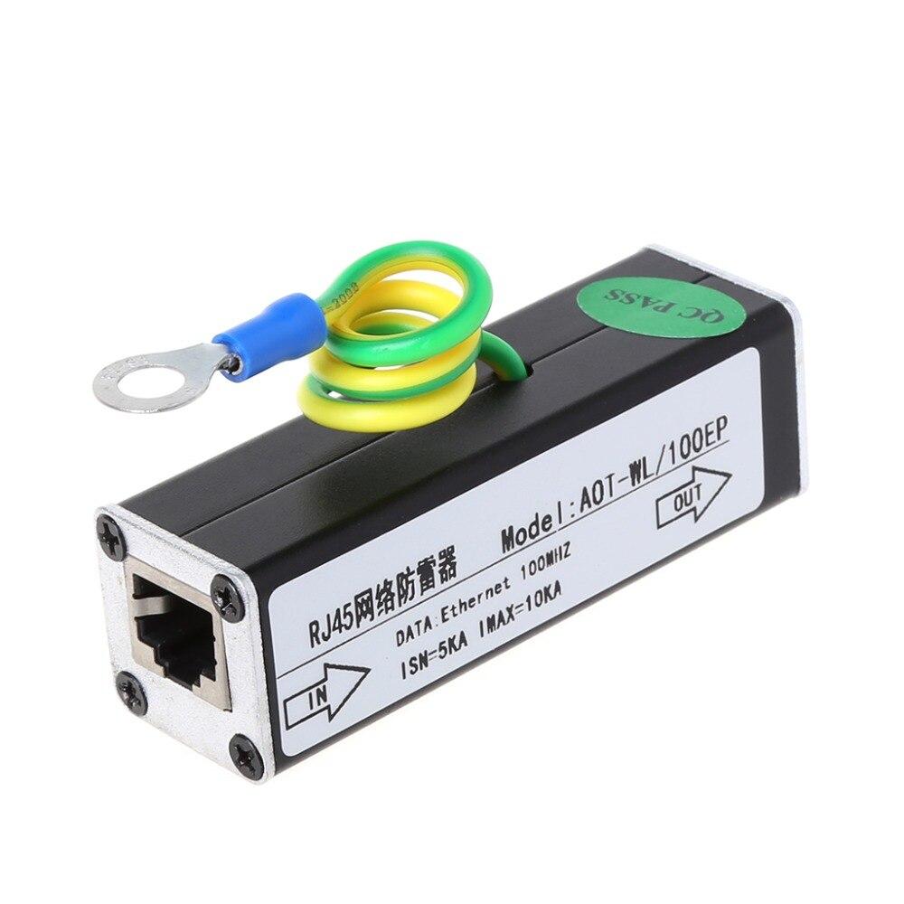 Network RJ45 Surge Protection Device Lightning Arrester SPD For 100M Ethernet Repeater HUB Switchboard