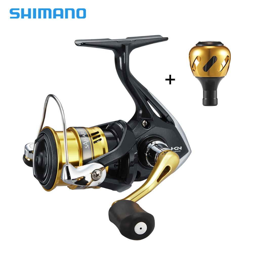 0f68e174259 Shimano SAHARA FI Spinning Reel with Extra Power Handle Knob 5.0:1/6.2:1  4+1BB Hagane Gear X-Ship Saltwater Fishing Reel