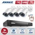 ANNKE 8CH 1080P HD CCTV DVR System 4PCS 2.0MP TVI 1080P CCTV Security Cameras IR Outdoor 8 Channels Video Surveillance kit