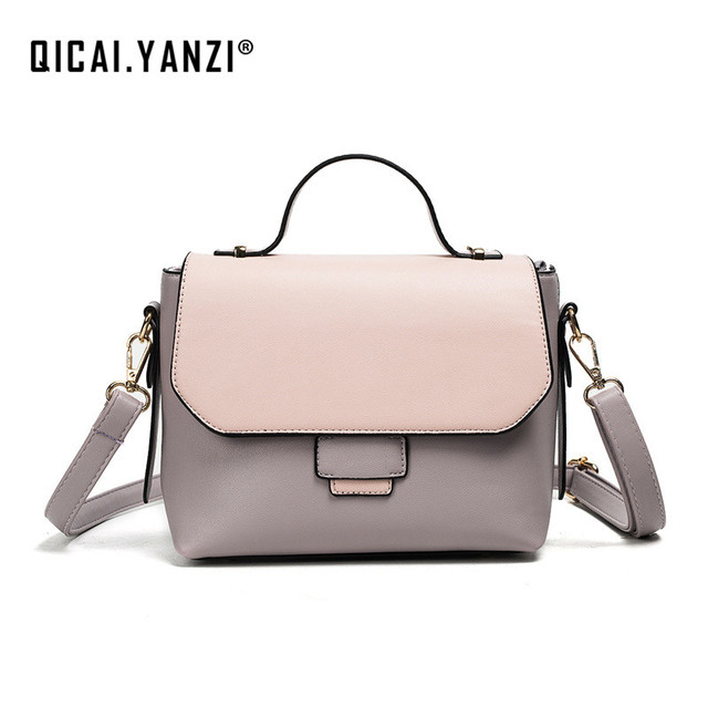 Yanzi Brand Las Classic Luxury Handbags Women Leather Hasp Shoulder Bags Mujer Patchwork Totes