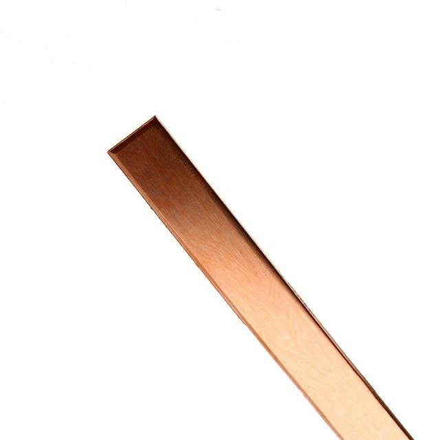 1pc T2 Cu Metal Copper Bar Plate Copper Strip 1.5mm Thickness 10mmx250mm 99% Pure For DIY CNC Accessories
