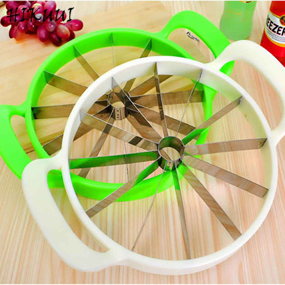 Küche Praktischen Tools Kreative Watermelon Schneider Melone Schneider Messer 410 edelstahl Obst Schneiden Slicer Weiß und Grün
