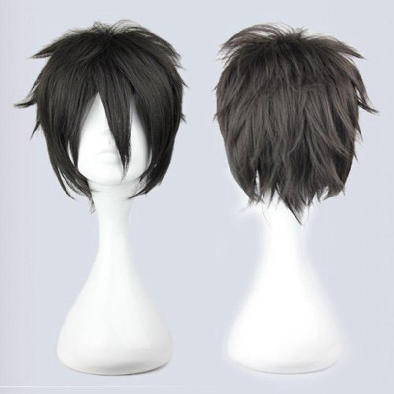 32cm Short Black Male Cosplay Wig Men Synthetic Cute Short ...