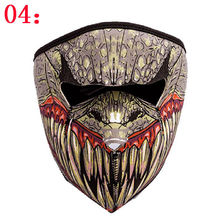 Neoprene Full/Half Face Reversible Motorcycle Skiing Snowboarding Cycling Mask
