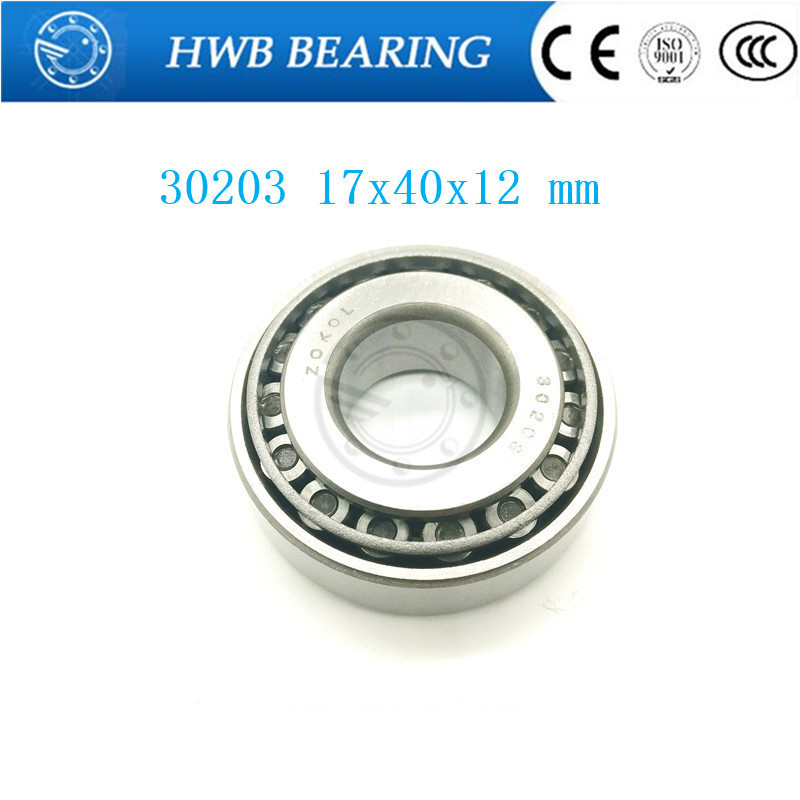 Free Shipping Taper Roller bearing 30203 17x40x12 mm Tapered roller bearings, single row 17x40x12mm na4910 heavy duty needle roller bearing entity needle bearing with inner ring 4524910 size 50 72 22