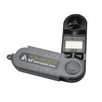 AZ8908 Digital Anemometro Mini Velocità del Vento Meter Mini Tipo di Termometro Igrometro Digitale Anemometro