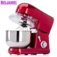 BEIJAMEI Kitchen 1200W 6 Speed Food Stand Mixer Cream Egg Blender Electric Cake Dough Bread Mixer Maker Machine for sale