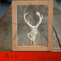 ark light Creative birthday gift wooden photo frame led table light usb connector wire smart night light free shipping