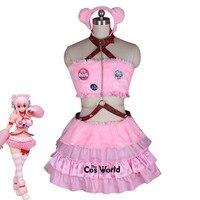 SUPERSONICO розовый медведь кошка животных трубки платье с топом форма наряд аниме Костюмы для косплея