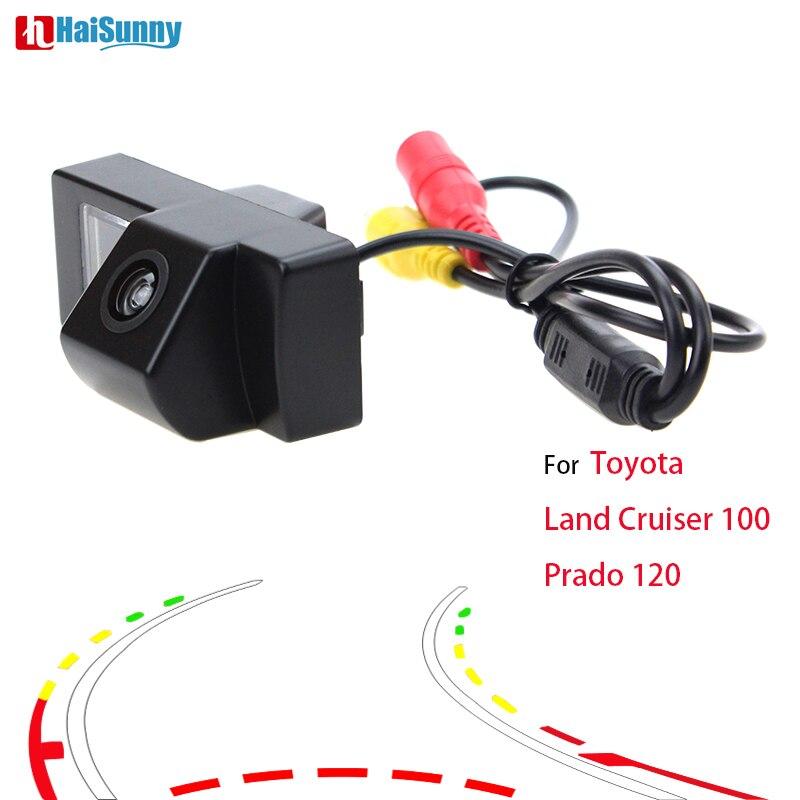 HaiSunny para Toyota Land Cruiser 100 Prado 120 cámara de visión trasera con trayectoria dinámica inteligente pistas
