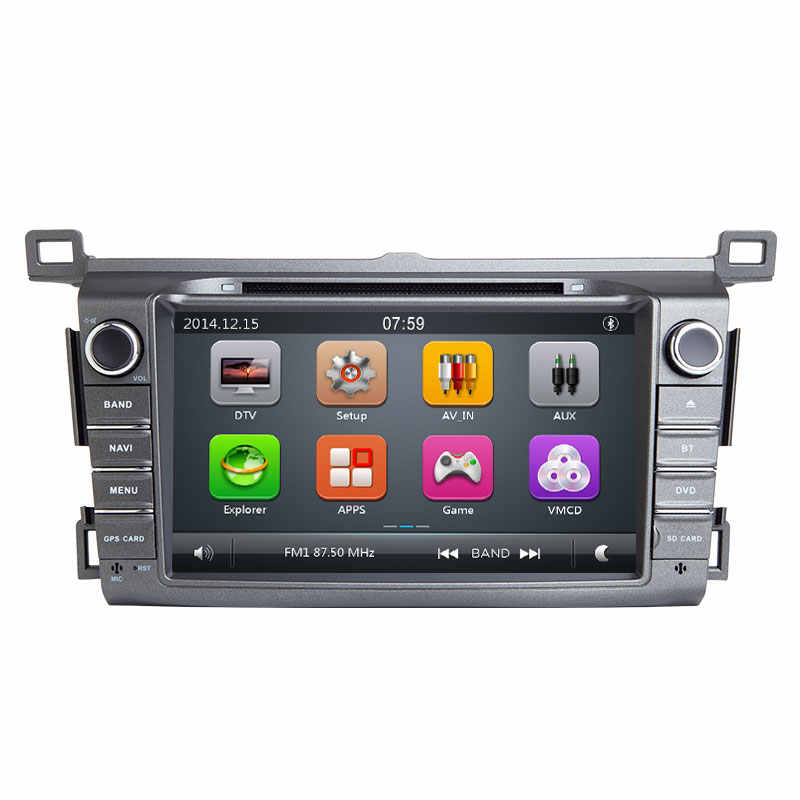 2 喧騒車の Dvd プレーヤー Autoradio トヨタ RAV4 Rav 4 4 2013 2014 2015 GPS ナビゲーション、マルチメディアテープレコーダーヘッドユニットステレオ