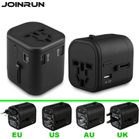 Joinrun Universal Travel Adapter Electric Plugs Sockets Converter With 3 USB Charging Port 2 4A US
