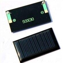 Potência do Painel de Células Solares para DIY Carregador de Bateria Solar do Diodo Emissor de LUZ 10 Pçs e lote 5 V 30ma 53x30mm Micro Mini Pequena Brinquedo 3.6 DA Célula Solar