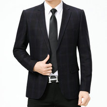 WAEOLSA Man Dark Plaid Blazer Men Black Suits Jackets Slim Fit Garment Male Elegance Masculino Office Outfits 2019