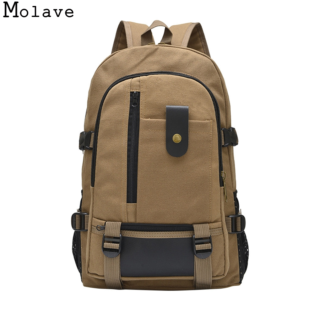 Detail Feedback Questions about MOLAVE Backpacks Large capacity leisure  travel color canvas student school bag Silt Pocket women backpack 2017  dec13 on ... 72dcec808b386