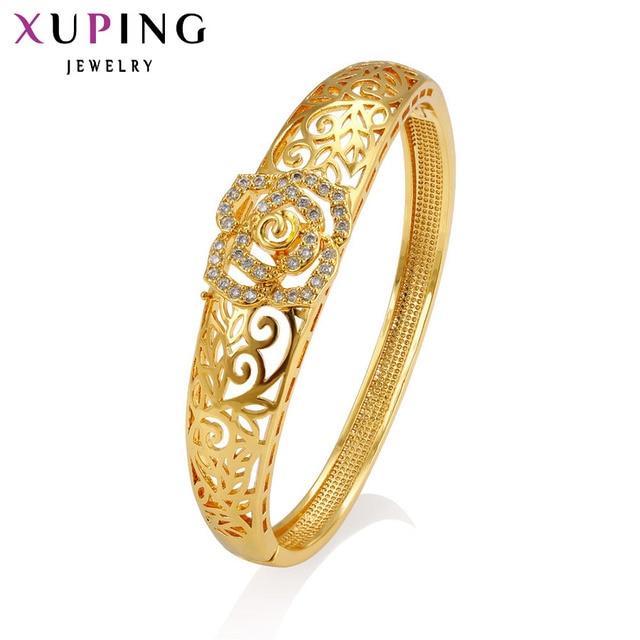 11.11 Offres Xuping Bracelet De Mode 2017 Nouvelle Arrivée Bijoux Femmes  Cadeau De Luxe Or Couleur