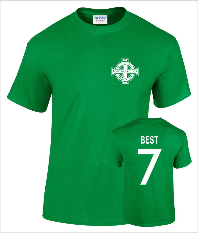 George Best Northern Ireland No 7 Mens Retro Footballer 2019 New Men T Shirt Fashion Brand Fitness Slim Fit Political T Shirts image