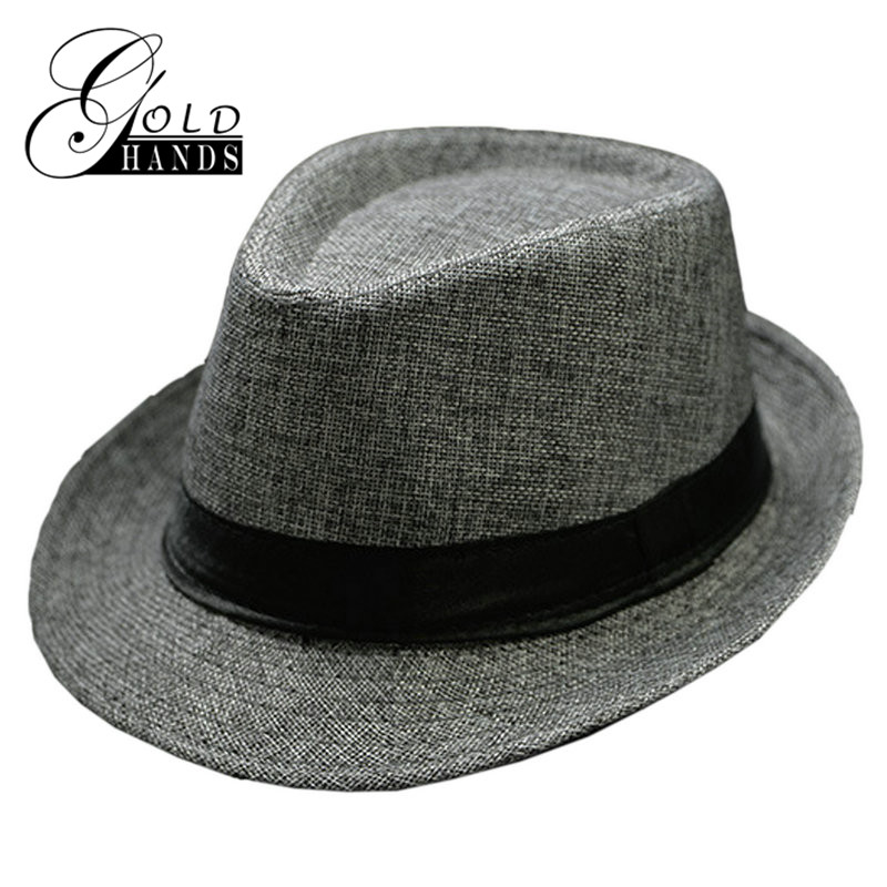 Panama Solid Small Hat Summer New Fashion Couple Jazz Hat England Casual Sun Hat Men Women Sun Visor Beach Hat Cappello