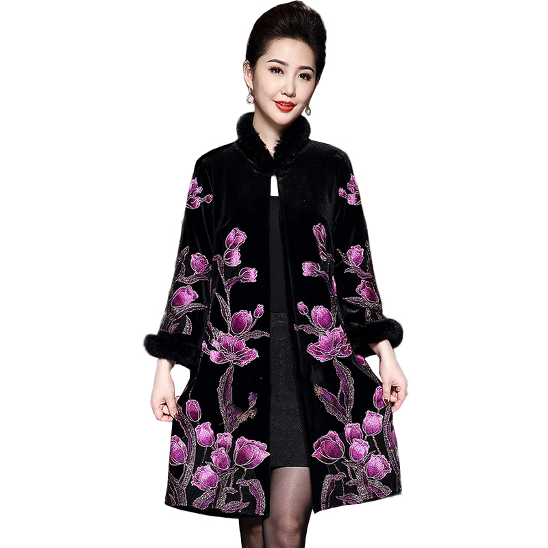2019 New Autumn Spring Vintage High quality print Long   Trench   Coat Elegant Runway Designer Women Plus Size Outerwear NW1241