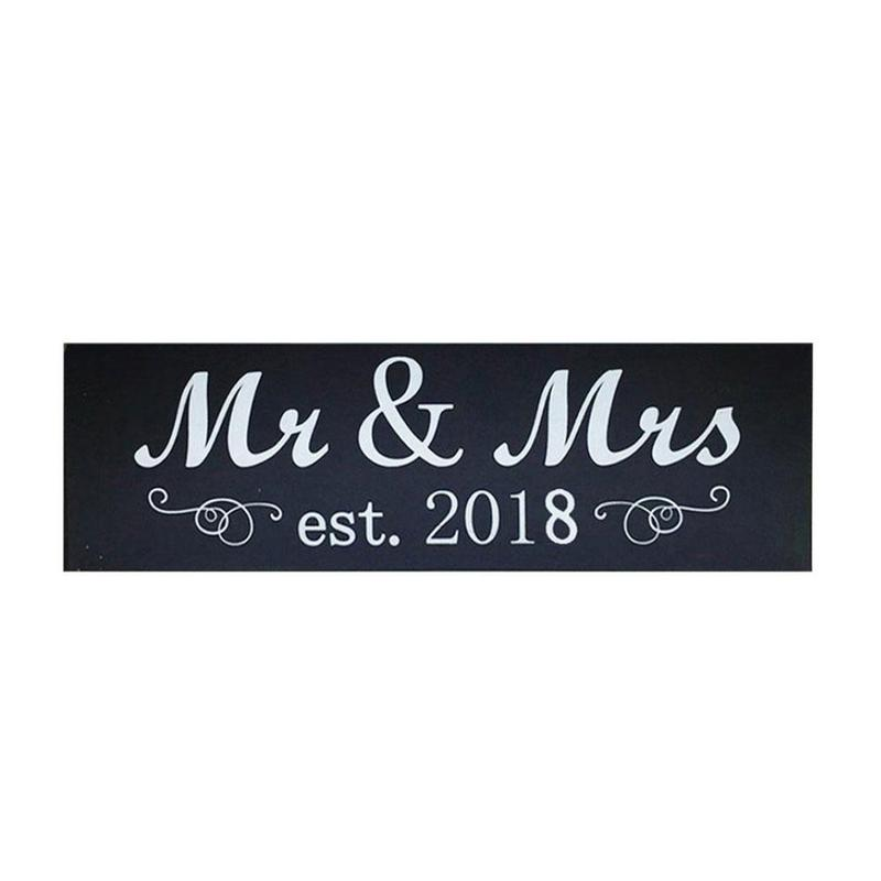 2018 Mr & Mrs Wood Sign Wedding Hanging board Sweetheart Table Decorations Wedding Mr & Mrs Sign Wood WED5109
