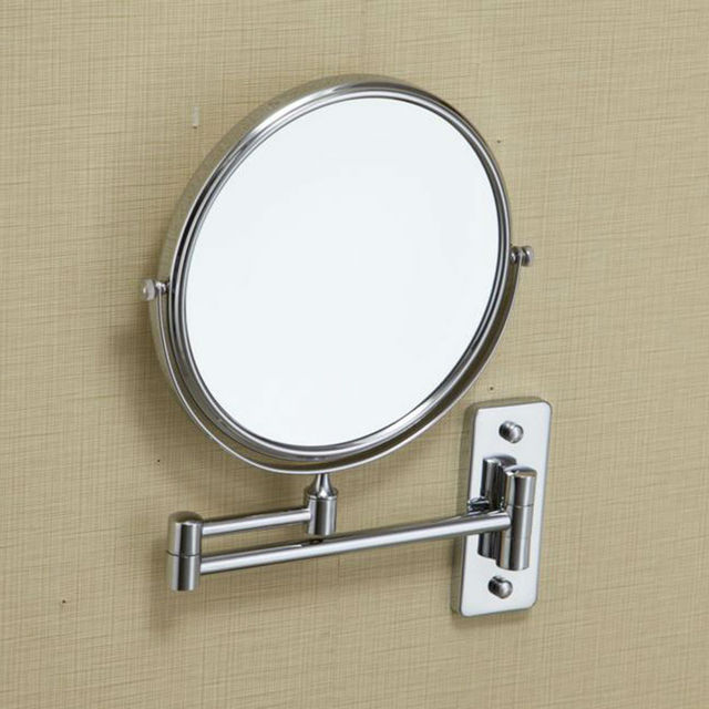 Kes Bwm100m10 10x Magnification Two Sided Swivel Wall Mount Mirror 8 Inch Polished