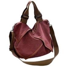 Vintage Women's Canvas Handbag Hobo Shoulder Bag Tote Messenger Casual Bag недорго, оригинальная цена