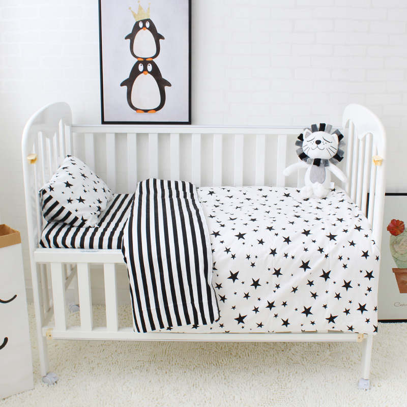 5 Pcs Baby Bedding Set Cute Pattern Cotton Cot Bedding Set For Children Including Baby Bed Sheet Quilt Pillow With Filler electric neck massage dolphin massager hammer vibration body back leg arm massage stick roller cervical vertebra massager device