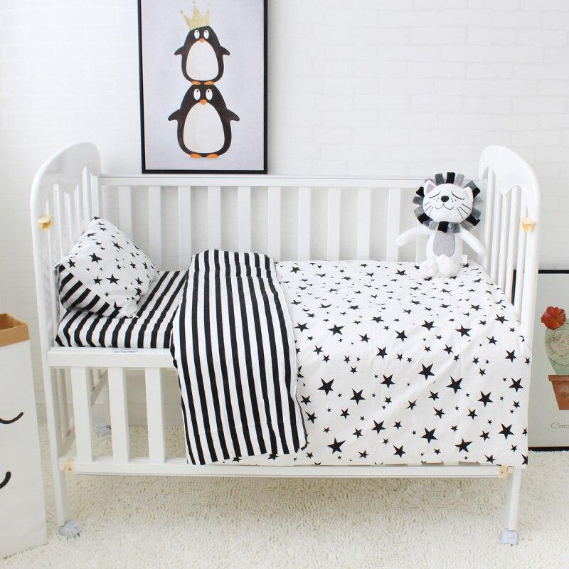 5 piezas del lecho lindo patrón de algodón cuna ropa de cama para ...