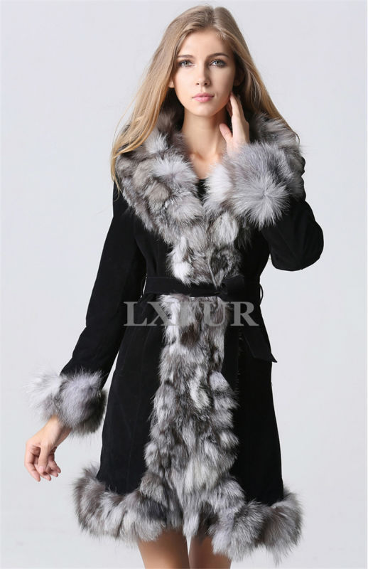 Popular Fur Trimmed Leather Coats-Buy Cheap Fur Trimmed Leather ...