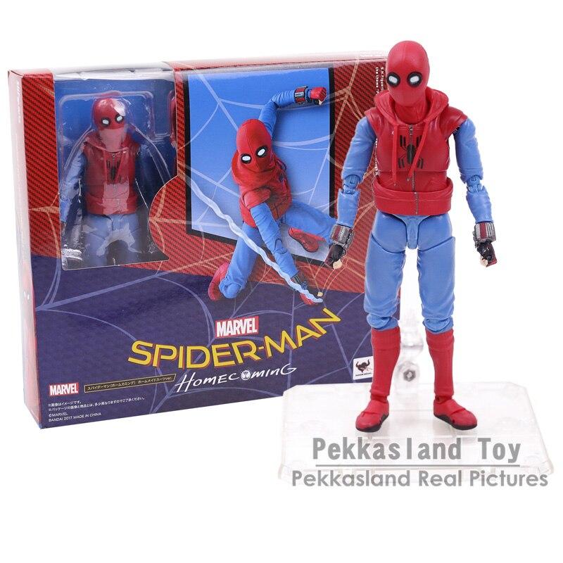 Человек-паук выпускников СВЧ S. H. Figuarts Человек-паук домашний костюм Ver. ПВХ фигурку игрушки с подставкой 14 см