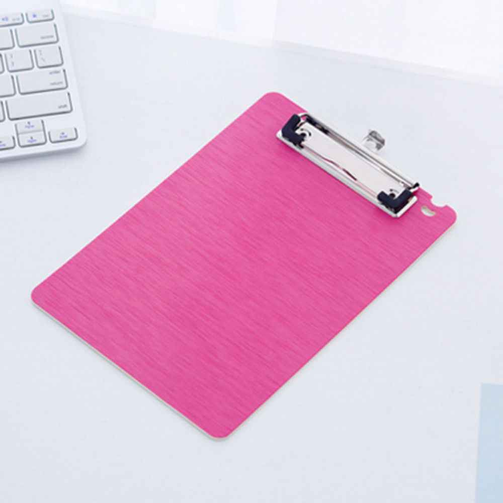 Kantor Plastik Biru/Hitam Padat A4 Ukuran Dokumen Clipboard Papan Klip dengan Pemegang Pena