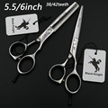 5.5/6 inch Professional Hairdressing scissors set Cutting+Thinning Barber shears High quality 38/42teeth