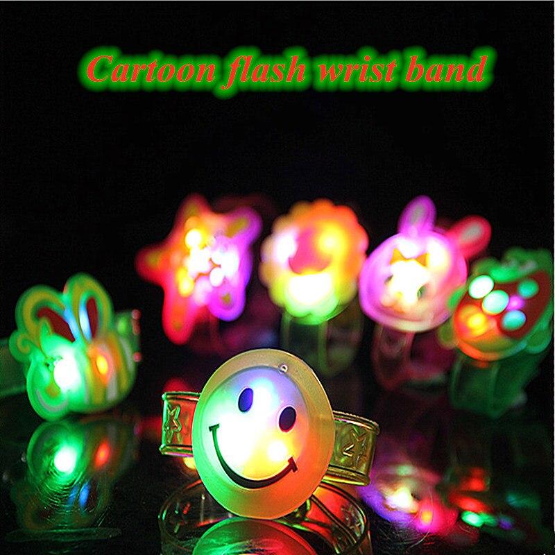 Hot New Creative Shiny Toys Wrist Band Flash Bracelet Children's Gift Toys Novelty Gag Toys Luminous Toys