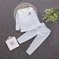 Invierno de Los Niños Muchachas de Los Bebés de Los Niños Long Johns Ropa Interior Térmica Recién Nacido Pijamas Cabritos de Los Pantalones de Algodón Más Grueso 7m-3Years