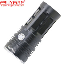 10T6 Flashlight 18650 Torch Lamp led flash light 20000LM  10T6 waterproof Lamp Lights Hunting lanterna (no battery
